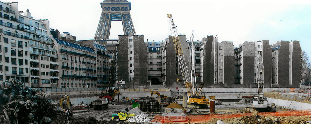 Parking Quai Branly Tour Eiffel- Construction