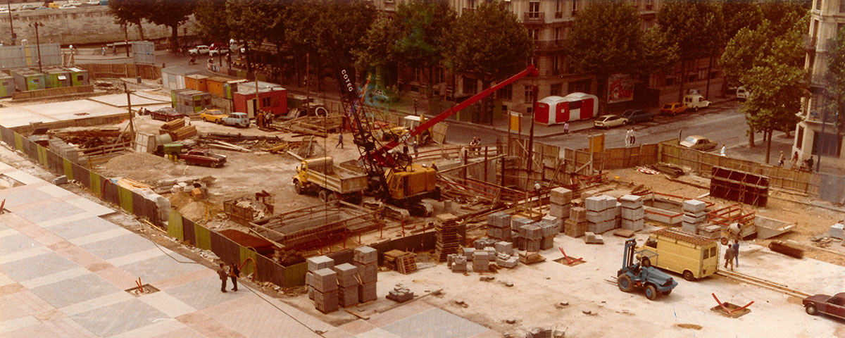 Parking Hôtel de Ville - Construction